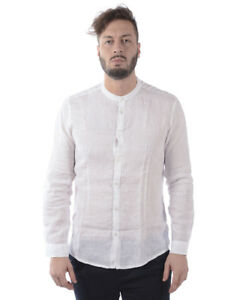 Daniele Shirt 2 Camicia Bianco Uomo Lino Alessandrini C6371r3393701 aqwPf