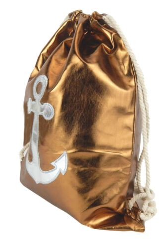 Gymbag bronze metallic Anker silber Ella Jonte Gym Bag Turnbeutel Hip Kunstleder