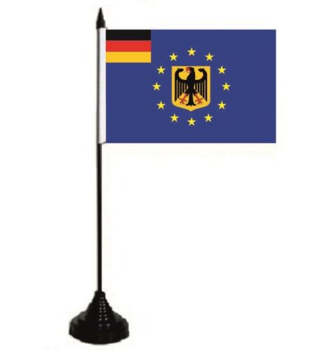Tischflagge Europa mit Deutschland Adler Tischfahne Fahne Flagge 10 x 15 cm