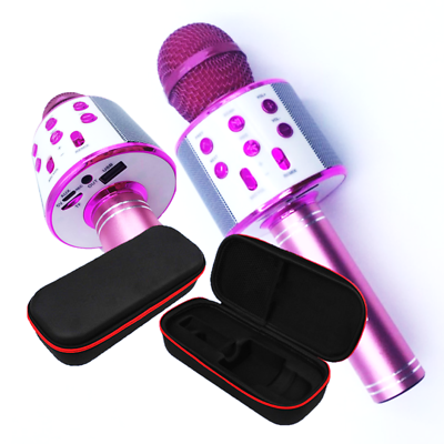 Wireless Bluetooth Karaoke Microphone Speaker Usb Purple Q9 Mic Microfono Esthetisch Uiterlijk