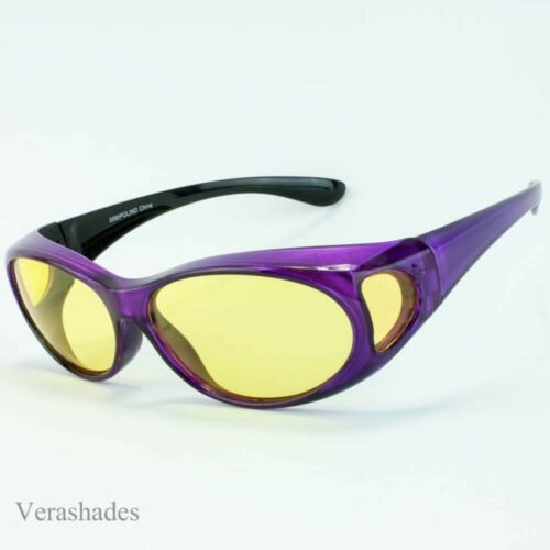 Fit Over Fit Cover POLARIZED Prescription RX  Night DAY Driving Lens Sunglasses