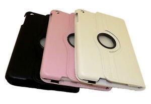 Apple-Ipad-Mini-Pu-Cuero-360-grados-de-rotacion-Protectora-Funda-Con-Smartstand