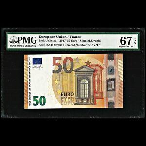European Union / France 50 Euro 2017 PMG Superb Gem Uncirculated 67 EPQ