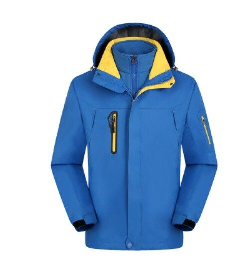Herren Ski Jacket SnowboardD69 Blau Snow Winter Waterproof Breathable S M L XL XXL