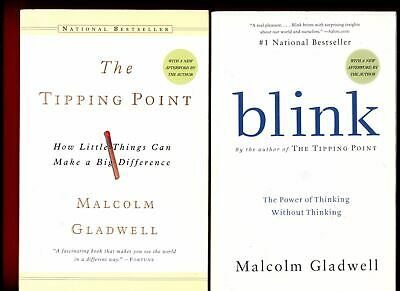 2 Malcolm Gladwell books: The Tipping Point + Blink -Free Shipping ...