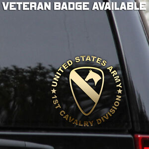 US-Army-1st-Cavalry-Division-Decal-Sticker-Veteran-First-Car-Window-Wall-Laptop