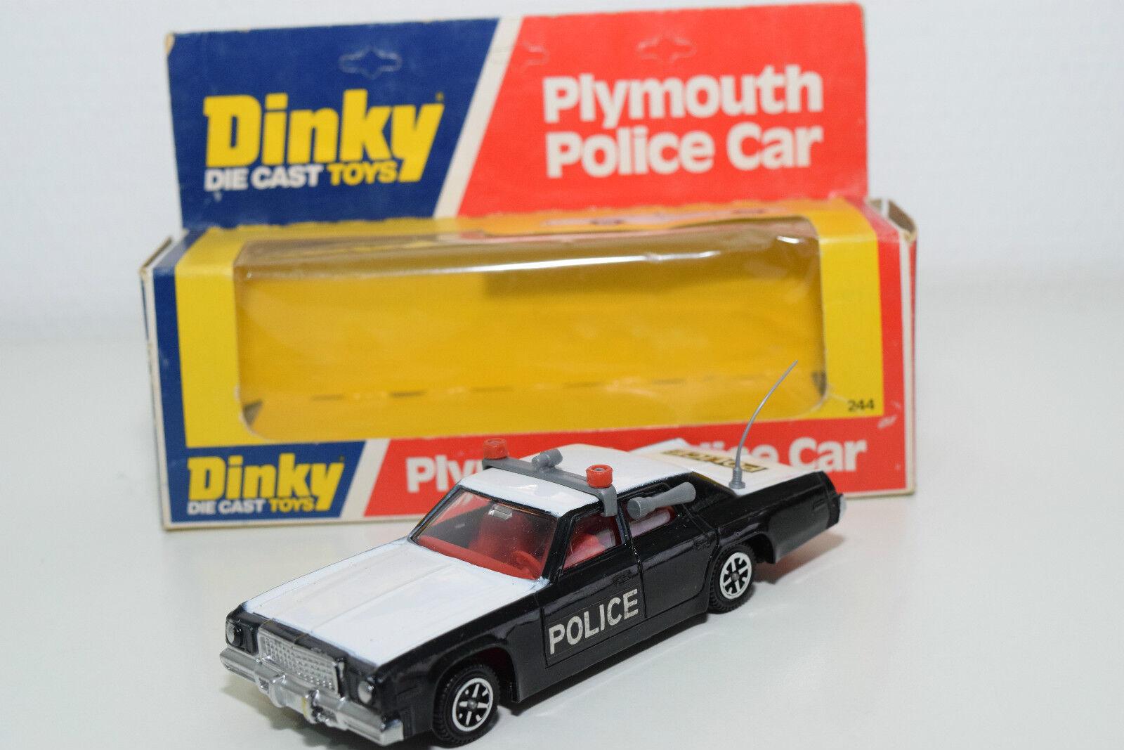DINKY TOYS 244 PLYMOUTH POLICE CAR CAR CAR MINT BOXED c97c0c