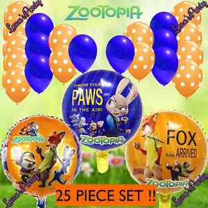 Image Is Loading 25PC Disney ZOOTOPIA 18 034 Mylar BALLOON Zoo