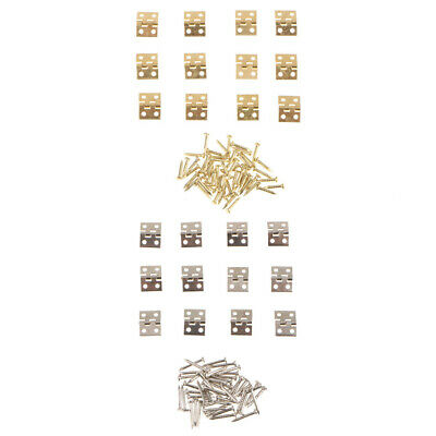 12x Mini Small Decorative Jewelry Cigar Box Hinge Miniature Dollhouse Hinge