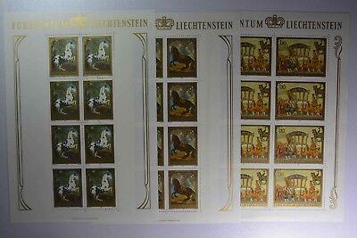 03 Kompl. N6 Liechtenstein 717-719 Kleinbogensatz Postfr. Mild And Mellow