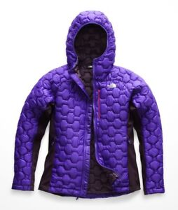bd5c8cc08 Details about The North Face Women's IMPENDOR THERMOBALL HYBRID HOODIE  Insulated Jacket Purple