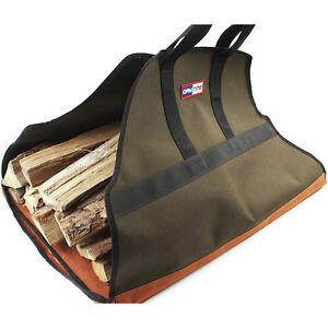 Firewood Carrier Bag Log Fire Wood Tote Canvas Carrying Bag Holder Rack Carry | eBay