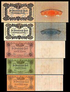 2x 25, 40, 60, 100, 200 Florin-édition 1904 - 1924-Reproduction - 013