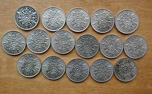 Elizabeth-Two-Shillings-Florin-1953-to-1970-choose-your-date-GEF-BU-or-Proof