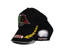 Black Mexico Mexican Flag Bird Style Cap Hat 3D embroidered