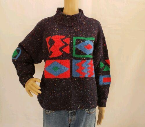 80's Esprit Vintage Lambs Wool Sweater Sz M L Colo
