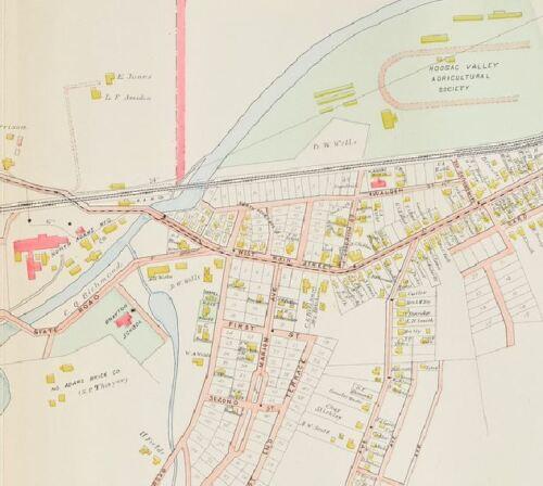 MASSACHUSETTS COPY PLAT ATLAS MAP 1904 BERKSHIRE COUNTY NORTH ADAMS GREYLOCK