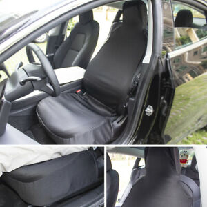 Black-Cloth-1pc-Seat-Cover-For-Tesla-Model-3-G