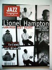 JAZZ MAGAZINE #530 Lionel Hampton,Joe Zawinul,Yvinek,Gigi Gryce,Art Blakey