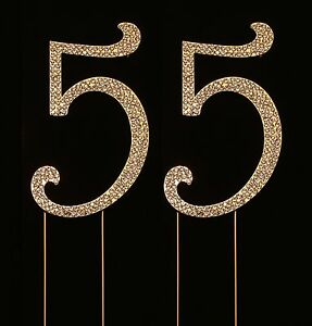 Image Is Loading Numbrer 55 For 55th Birthday Or Anniversary Cake