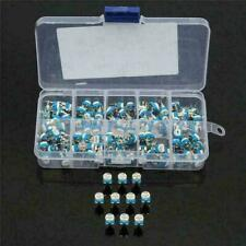 100x 10 Value Resistors Variable Potentiometer Assortment Kit Box 500ohm