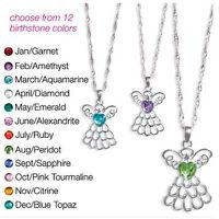 Avon Angel Birthstone Necklace You Choose Birthstone - – Retail $19.99