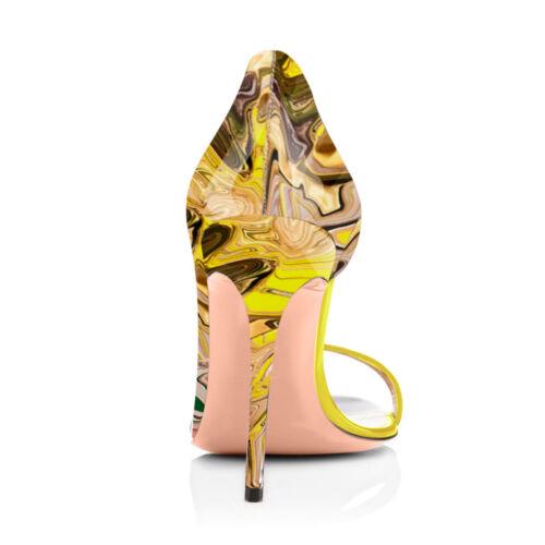 Onlymaker Women/'s Peep Toe PU High Heel Sandals Fashion Spring Summer Stilettos