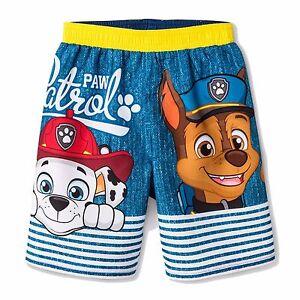 666fc0a29cbb0 PAW PATROL CHASE UPF-50+ Boys Bathing Suit Swim Trunks NWT Toddler's ...
