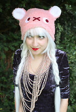 BABY PINK KAWAII BEAR CAT EAR SCENE EMO GOTHIC HAT COSPLAY HALLOWEEN GOTH