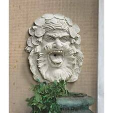 Medieval Historic Charm Hafod Mansion Greenman Wise Face Fountain Wall Sculpture