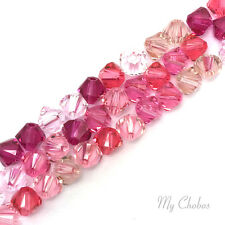50 pcs Swarovski 5328 / 5301 3mm Crystal Xilion Bicone Beads PINK Colors Mix