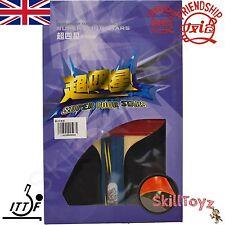 Friendship Super 4 Star Table Tennis Bat Racket plus 2 FREE Protectors! UK STOCK