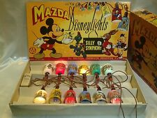 Vintage 1940s Mazda Mickey Mouse Silly Symphony Disneylights Christmas Lights