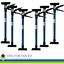 6er Set Türspanner Zargenspanner Türfutterstrebe Türspreizer 51-115cm bis 30KG
