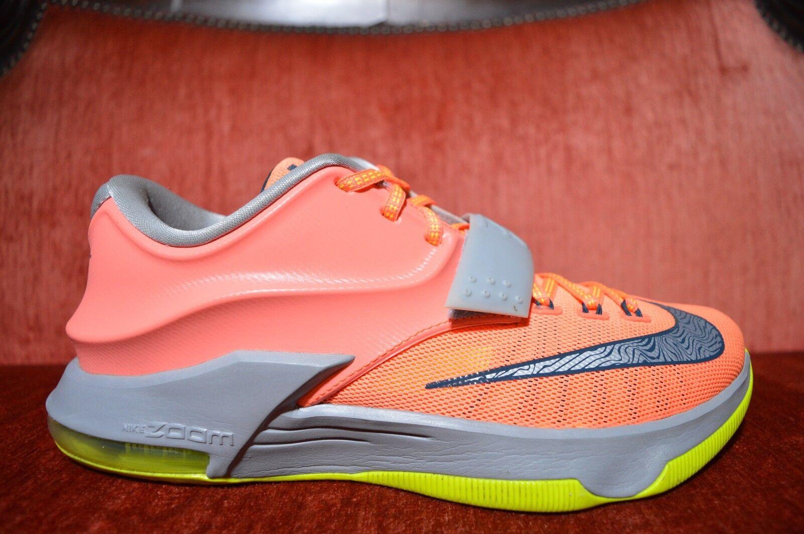 Nike Air Kevin Durant KD 7 VII 35000 DEGREES Orange Green 653996-840 Size 8.5