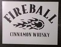Fireball Cinnamon Whisky Whiskey 8.5 X 11 Custom Stencil Fast Free Shipping