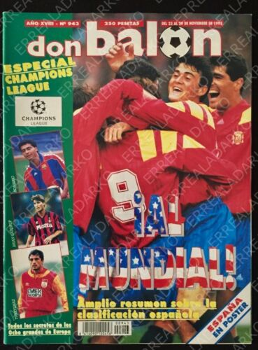 DON BALON 943 SELECCION ESPAÑA AL MUNDIAL 94 - ESPECIAL CHAMPIONS LEAGUE