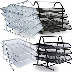 Image Is Loading 3 4 Tier Office Filing Trays Holder A4