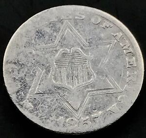 1857-Three-Cent-Piece-Silver-Trime-3c-rare-better-date-5267
