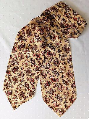 Vintage British Celanese cravat Paisley Pattern 1930s 1940s 1950s good condition