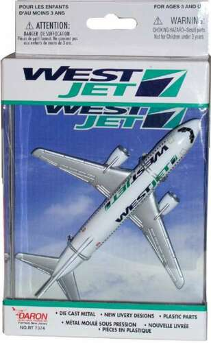 Realtoy Westjet Airlines Boeing 737 Die-cast Model Airplane
