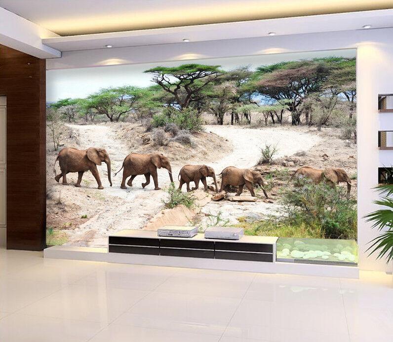 3D Jungle Elephant 722 Wallpaper Mural Paper Wall Print Wallpaper Murals UK