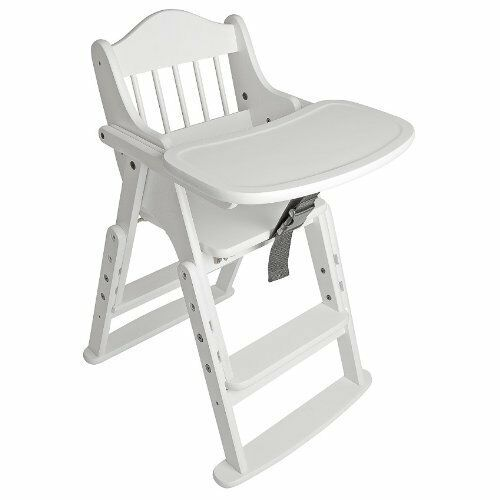 Safetots Multi-Height Folding Wooden High Chair Weiß Wood