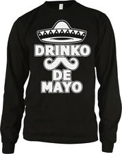 Drinko De Mayo Cinco Sombrero Mustache Mexican May 5th Drunk Party Men/'s T-Shirt