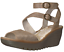 Fly-London-Yisk-LUNA-Gold-Camel-Leather-Ankle-Strap-Wedge-Sandals-9-9-5-EU-40 thumbnail 1