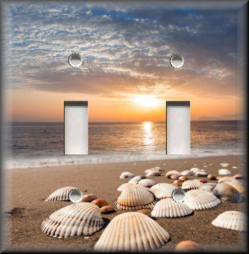 Beach Home Decor Sunrise Beach Shells Home Decor Metal Light Switch Plate Cover