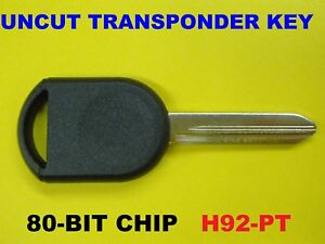 NEW 00-18 40 80 Bit Transponder Chip Key Blank No Logo SA H84 H92 599114 5913441