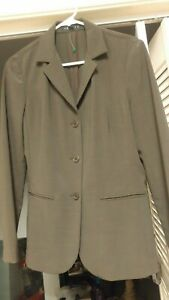 NWT-Theory-Womens-Gray-3-Button-Stretch-Wool-Blend-Career-Lined-Blazer-Jacket-M