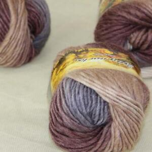 Sale 3 Skeins x 50g Rainbows Coarse Hand Knit Wool Yarn Vintage Shawl Scarves 13