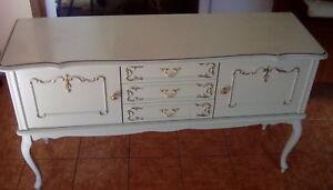 Details Zu Kommode Sideboard Anrichte Weiss Gold Barock